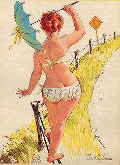 Duane Bryers' Hilda was world first plus-size pin-up girl. Here are some of the most fun and seductive Hilda illustrations. Pin Up Vintage, Photo Vintage, Vintage Humor, Vintage Signs, Pinup Art, Gil Elvgren, Arte Pin Up, Rolf Armstrong, Pin Up Girls
