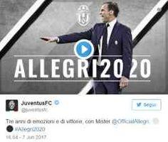 Juventus, ufficiale: Allegri panchina fino 2020 alla fine massimiliano allegri ha firmato fino al 2020, non fino al 2019 come invece sembrava. in questo modo, il tecnico livornese stara sulla panchina juventina per altri tre anni. allegri in quest #juventus #allegri #contratto #calcio #serie