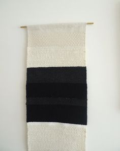 metrode, woven, black and white, textiles Textile Texture, Textile Fiber Art, Home Textile, Weaving Textiles, Weaving Art, Textile Patterns, Textile Design, Weaving Wall Hanging, Wall Hangings