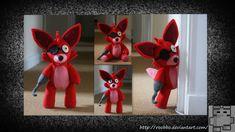 Five Nights At Freddy's - Foxy Plush by roobbo.deviantart.com on @DeviantArt