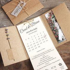 Kraft Pocket Wedding Invitations, Rustic Wedding Invites - set of 50 pcs #PickyBride #weddinginvitation