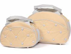 Bolsa maternidade com bolinhas e listras! Linda e ideal para o enxoval de bebê! Lindos produtos da loja virtual Bebê Luz! Clique na foto e saiba mais!