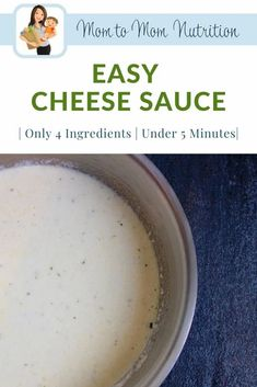 Easy cheese sauce is made with just 4 simple ingredients and is ready in less than 5 minutes! Enjoy with chicken, pasta, veggies, and more! Cheese Sauce For Veggies, Cream Cheese Sauce, Keto Sauces, Easy Cheese, Nutrition Articles, Healthy Side Dishes, Vegetarian Cheese, Kid Friendly Meals, 4 Ingredients