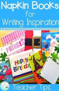 I am always looking for fun ways to inspire and motivate young and struggling writers. Napkin books and writing prompts keep my students asking for more! Learn why napkin books are a must have in your elementary classroom, how to get started using them, a Teaching Writing, Writing A Book, Writing Prompts, Writing Ideas, Teaching Resources, Teaching Ideas, Preschool Writing, Writing Strategies, Academic Writing