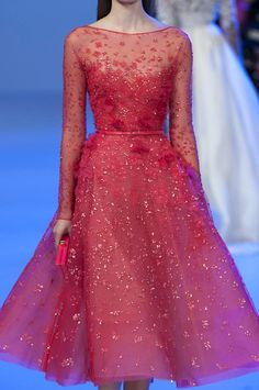 Romantic Flora Trend Elie Saab Spring Summer 2014 #couture #fashion #floral…