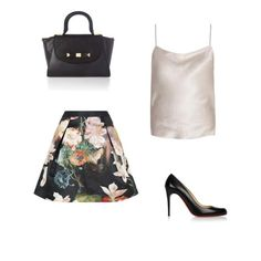 Floral WINTER/FALL designer Skirt: OUTFIT LOVE