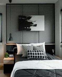 Stylish Industrial Style Bedroom Design Ideas - lmolnar - Lmolnar (My All Favorites) - Home Design, Home Office Design, Interior Design, Design Ideas, Platform Bed Mattress, Industrial Style Bedroom, Hotel Collection Bedding, Deco Originale, Awesome Bedrooms