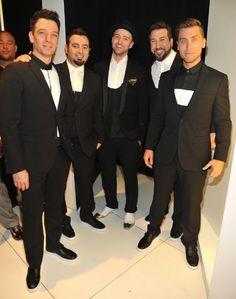 Lance Bass, Joey Fatone, Justin Timberlake, J.C. Chasez and Chris Kirkpatrick at event of 2013 MTV Video Music Awards