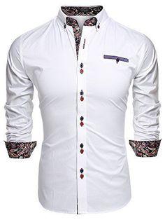 25ff3908f271 Coofandy Men s Fashion Slim Fit Dress Shirt Casual Shirt at Amazon Men s  Clothing store