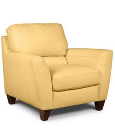 Almafi Leather Living Room Chair