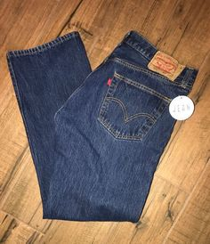 Levi's Men's 501 Sz 36x30 Original Fit Button Fly Dark Wash Denim Jeans 4M #Levis #50OriginalFit