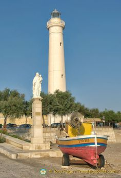Famous Lighthouses | Gallery Sicily In Search of Montalbano Punta Secca's famous lighthouse
