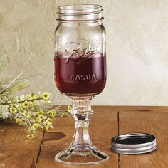 So you like wine but keep breaking all your dainty, thin-walled stemmed glasses? Try some Rednek Wine Glasses on for size. Basically a Ball mason jar fused with a thick glass stem, these let you to enjoy your drink right now or cap for later (and double to keep flies out on those hot summer days). Fits right in a rustic home bar alongside a Mason shaker.    Did we mention they're dirt cheap? Order a few at Amazon - $4
