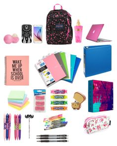 what's in my book bag for this year. back to school Middle School Supplies, College School Supplies, School Items, School Backpack Organization, School Backpack Essentials, What's In My Backpack, School Survival Kits, School Checklist, School Suplies