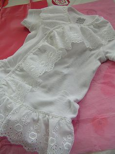 ruffle top for baby girl. Easy sewing tutorial