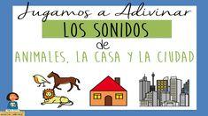 Jugamos a Adivinar los Sonidos de los Animales, la Casa y la Ciudad_Disc... Elementary Spanish, Spanish Class, Music For Kids, How To Speak Spanish, Vocabulary, Sons, Musicals, Science, Teaching