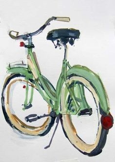 Taliah Lempert Abstract Watercolor Art, Watercolor Tips, Watercolor Paintings, Watercolors, Bicycle Painting, Bicycle Art, Illustrations, Graphic Illustration, Bicycles For Sale
