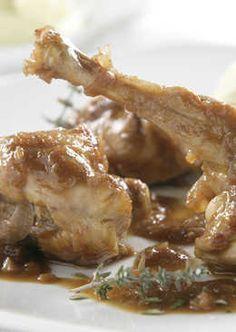 Recetas de conejo - 444 recetas caseras - Cookpad Tex Mex, Mexican Food Recipes, Bacon, Food And Drink, Menu, Chicken, Wontons, Animals, Gastronomia