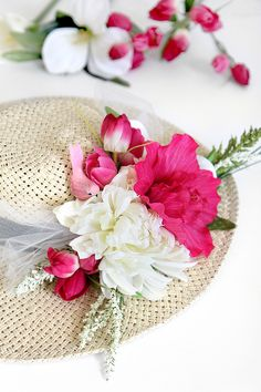 MY DIY | Flower Derby Hat Great for a festival DIY feature