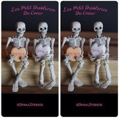 The Loving Skeletons - 3D Stereoscopic Photography.