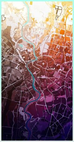 AUTONE - Urban planner who makes his maps look like art pieces 2013-11-26その八 考えでおくべきかも