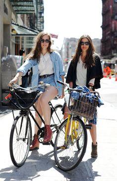 Girls bike riding via remainsimple.tumblr