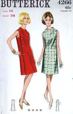 1960s Misses A Line Dress Vintage Sleeveless, Funnel Collar