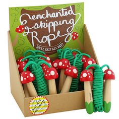 Skipping rope with mushroom handles for jumping rope in style! Recommended for…
