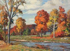 """""""Vermont Landscape, Autumn,"""" Aldro Thompson Hibbard, oil on canvas, 30 x 40"""", private collection."""