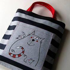 blueprint / PRUHOVANÁ - taška kanafaska Textiles, Crochet Quilt, Gym Bag, Recycling, Reusable Tote Bags, Quilts, Womens Fashion, Owls, Tejido