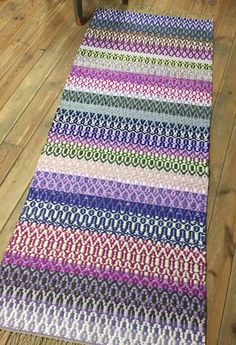 by MareMaa on Etsy Slippery Floor, Rope Rug, Purple Lilac, Cotton Bedding, Recycled Fabric, Small Rugs, Carpet Runner, Floor Rugs, Colorful Rugs