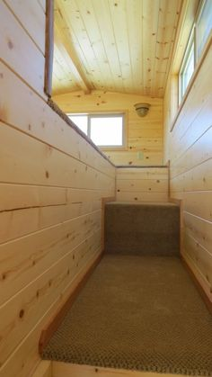 Tiny House Talk - Small Spaces More Freedom | Spacious Tiny House Living in Rich's Portable Cabins | http://tinyhousetalk.com