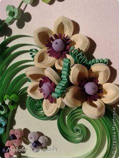 *QUILLING ~ Картина панно рисунок Квиллинг И опять они-любимые орхидеи Бумажные полосы фото 12