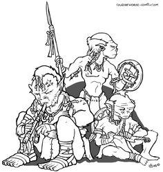 Wild goblins, grohls, hobgoblin, spears flute