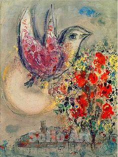 Chagall..  My favorite!  #MarcChagall  learn more on http://www.johanpersyn.com/category/humanity/art/marc-chagall/