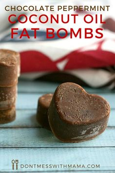 Chocolate Peppermint Coconut Oil Fat Bombs - tame that sweet tooth AND increase your metabolism with these delicious treats - DontMesswithMama.com