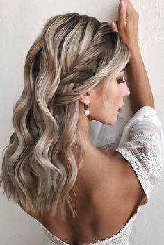 Bridal Hair Down, Bridesmaid Hair Down, Wedding Hair Down, Wedding Hair And Makeup, Wedding Bride, Diy Wedding Hair, Side Braid Hairstyles, Formal Hairstyles, Bride Hairstyles