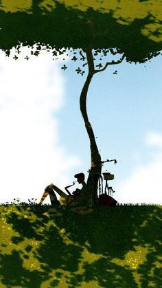 Under the tree by PascalCampion on DeviantArt