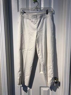 68d66d3b30d37 Ann Taylor Loft White Business Work Dress Ankle Pants SIZE Petites 6   fashion  clothing