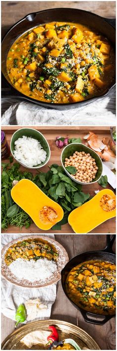 Chickpea and Butternut Squash Curry -this vegetarian curry is mild and delicious, even the little ones will enjoy it!