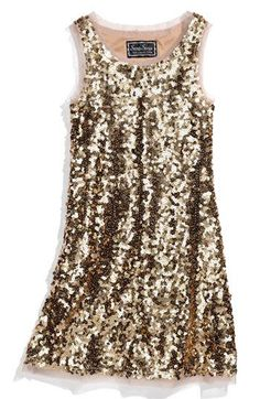 Sara Sara Sleeveless Sequin Dress (Big Girls) available at Pretty Dresses, Beautiful Dresses, Danse Salsa, Look Fashion, Womens Fashion, Sequin Dress, Nye Dress, Glitter Dress, Gold Dress