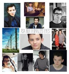 """Asa Butterfield"" by kregi800 ❤ liked on Polyvore featuring beauty and thoseeyes"