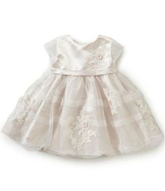 Joan Calabrese Baby Girls 6-24 Months Satin Lace-Appliqué Dress | Dillards