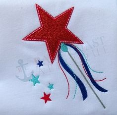 Star Wand Applique - 3 Sizes! | What's New | Machine Embroidery Designs | SWAKembroidery.com East Coast Applique