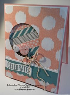 Stampin' Up Sweet Dreams DSP, washi and buttons and Celebrate Today stamp set