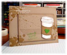 Perfect Blend stamp set, Gorgeous Grunge stamp set  by Bada-Bing! Paper-Crafting!: Starbuck's inspired