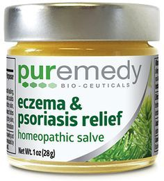 BEST SELLER! Puremedy's Eczema and Psoriasis Relief is our top selling product, in competition with the Original Healing Salve! This homeopathic salve sooths itchy skin and heals damaged, flakey tissue which is commonly associated with eczema and psoriasis. Increases blood circulation and oxygen to skin and tissue, speeding up the healing process. Can use on every part of the body, including the scalp and face.