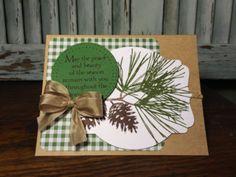 Ornamental Pine Christmas Card