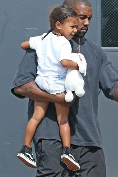 North West wearing Vans Sk8 Hi-Zip Sneakers