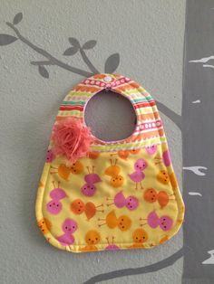 Bib for baby or toddler girl Ann Kelle for by WithAGrandmasLove
